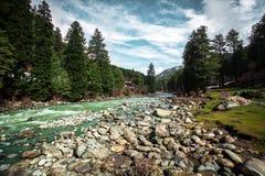 A natureza bonita com fundo da montanha de Himalaya fotografia de stock