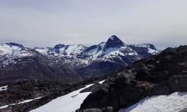 Natureza bonita da montanha de Nuuk Gronelândia Fotos de Stock Royalty Free