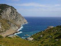 Natureza bonita na maneira a Tampão de Formentor, Mallorca foto de stock