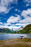 Natureza bonita Noruega Fotos de Stock Royalty Free