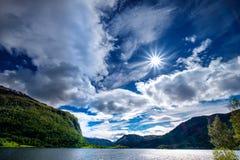 Natureza bonita Noruega Imagem de Stock Royalty Free
