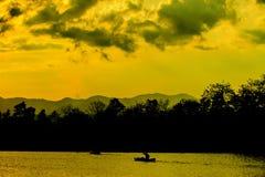 Natureza, caiaque e sunste abstratos Imagem de Stock Royalty Free
