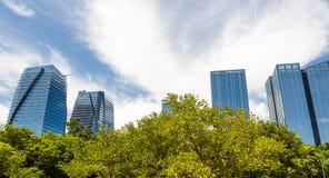 Natureza contra a cidade Imagens de Stock Royalty Free