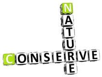 a natureza 3D conserva palavras cruzadas Ilustração Royalty Free