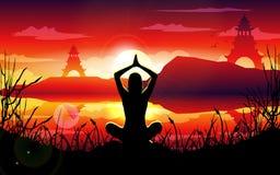 Natureza da ioga Fotos de Stock