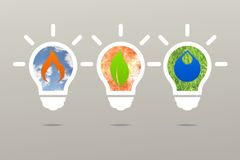 Natureza da lâmpada da energia limpa da ideia do negócio Imagens de Stock Royalty Free