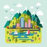 Natureza da paisagem da montanha, rio, ambientalmente Imagem de Stock