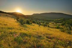 Natureza da paisagem da montanha imagens de stock