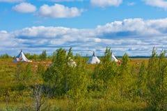 Natureza da região polar no outono Imagens de Stock Royalty Free