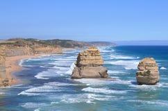 Natureza de Austrália de doze apóstolos Fotografia de Stock