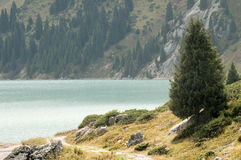 A natureza de Cazaquistão Lago Almaty imagem de stock
