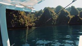 Natureza de 3Sudeste Asi?tico Viagem do barco video estoque