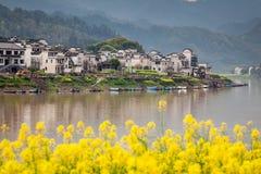 Natureza de Xin'anjiang da cidade de China Imagem de Stock
