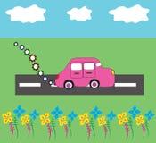 Natureza do carro dos desenhos animados Fotos de Stock Royalty Free