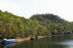 natureza do curso de Tailândia da represa do lom do kio do lampang exterior Fotografia de Stock