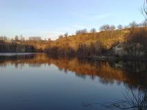 Natureza do lago imagem de stock