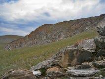 A natureza do Lago Baikal Afloramento das rochas Foto de Stock Royalty Free