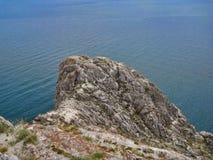 Natureza do Lago Baikal O ponto do promontório Imagens de Stock Royalty Free