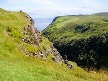 Natureza do litoral de Escócia Fotografia de Stock