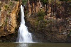 Natureza do marrom do andl da cachoeira bonita Fotografia de Stock