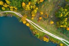 Natureza do outono de R?ssia central de uma altura fotos de stock royalty free