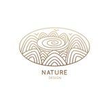 Natureza do oval do logotipo ilustração do vetor