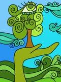 Natureza em sua mão Imagens de Stock Royalty Free