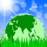 A natureza global representa as árvores ambientais e a terra ilustração royalty free