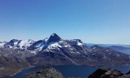 Natureza Gronelândia da montanha de Nuuk bonito Imagem de Stock Royalty Free