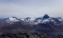 Natureza Gronelândia da montanha de Nuuk bonito Imagem de Stock