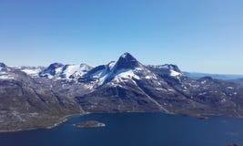 Natureza Gronelândia da montanha de Nuuk bonito Fotos de Stock Royalty Free