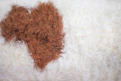 Natureza limpa branca e marrom da textura da pele dos carneiros para o fundo fotos de stock royalty free