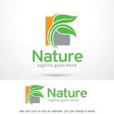 Natureza Logo Template Design Vetora Foto de Stock Royalty Free