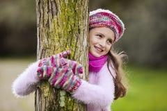 Natureza loving da criança foto de stock