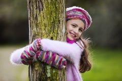 Natureza loving da criança fotografia de stock royalty free