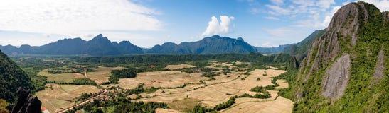 Natureza maravilhosa em Laos Foto de Stock