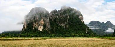Natureza maravilhosa em Laos Fotografia de Stock