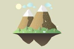 Natureza no meio-dia Conceito de projeto exterior Paisagem bonita taxa ilustração royalty free