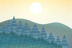 Natureza no meio-dia Conceito de projeto exterior Paisagem bonita taxa ilustração stock