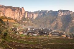 Natureza primitiva da vila de Shenxianju do chinês Fotos de Stock