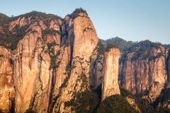 Natureza primitiva da vila de Shenxianju do chinês Fotos de Stock Royalty Free