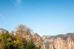 Natureza primitiva da vila de Shenxianju do chinês Imagem de Stock Royalty Free