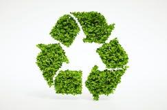 Natureza que recicla o símbolo Fotografia de Stock Royalty Free