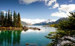 Natureza selvagem em montanhas rochosas fotos de stock
