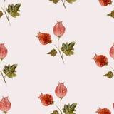 Natureza tirada mão do departamento da flor da aquarela do estilo Imagens de Stock Royalty Free