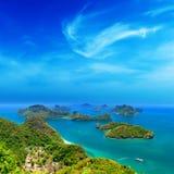 Natureza tropical da ilha, arquipélago do mar de Tailândia Fotos de Stock