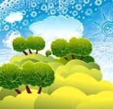 A natureza. Uma paisagem solar Imagem de Stock Royalty Free