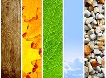 Naturfahnen Stockfotos