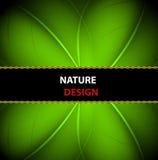 Naturfahnen-Hintergrundauslegung Lizenzfreie Stockbilder