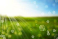 Naturfrühling bokeh Hintergrund Stockbilder